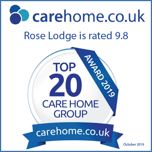 Rose Lodge care home top 20 award